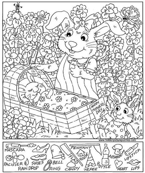 printable hidden pictures puzzles hidden pictures coloring sheets pages printables