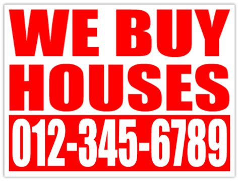 We Buy Houses Signs by We Buy Houses Bandit Signs Cheap Investor Lawn Signs