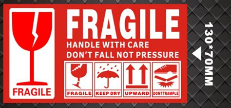 Lakban Fragile Handle With Care Putih Promo 130 70mm large box shipping label in fragile products sticker warning handle with care