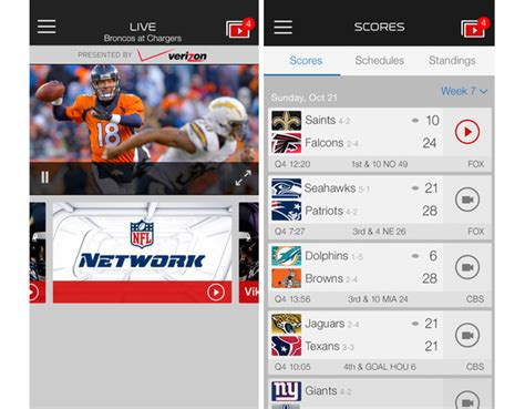 nfl mobile scores nfl mobile updated for 2014 season with new