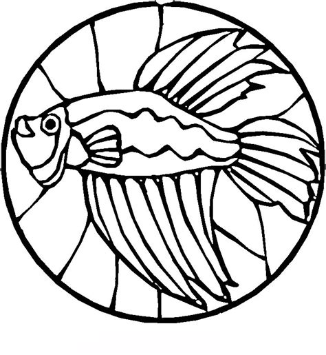 stained glass fish coloring pages gt gt disney coloring pages