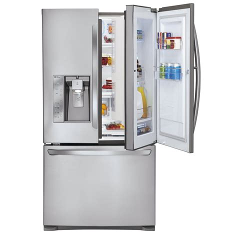 door refrigerator bottom freezer lg lfx31945st 31 cu ft door in door door