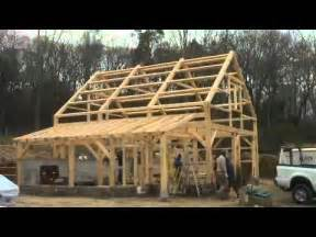 Gambrel Garage Kits five month time lapse post and beam barn in lyme youtube