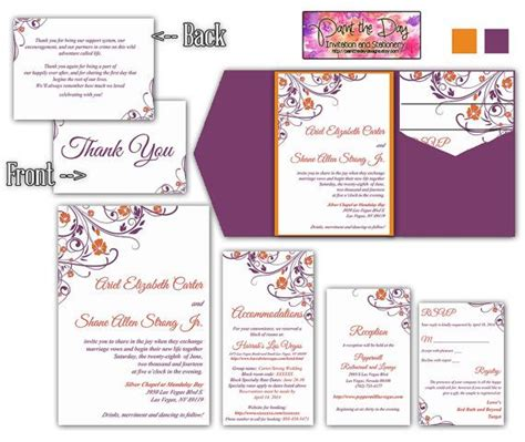 diy wedding invitation pocketfold template raspberry