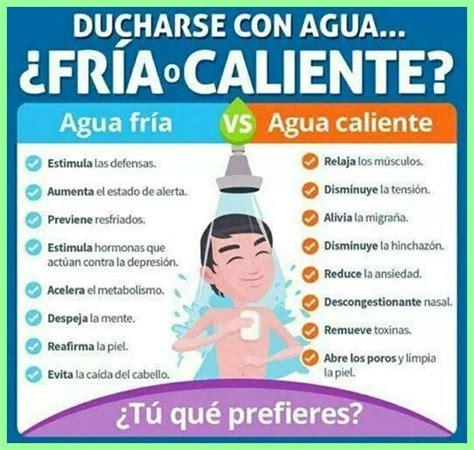 duchas de agua fria 191 ba 241 os de agua caliente o duchas de agua fr 237 a nutrici 243 n