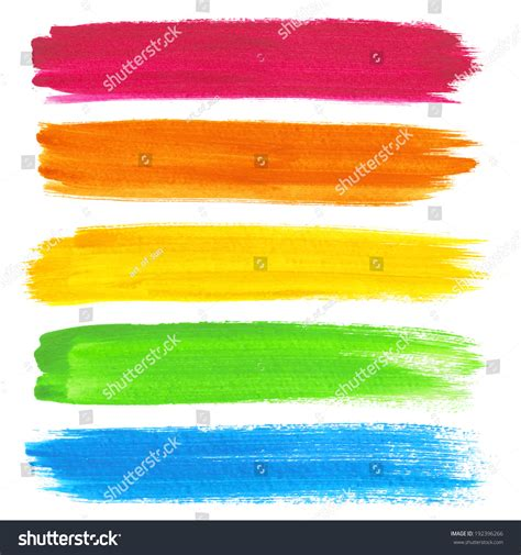 colorful vector watercolor brush strokes stock vector 192396266