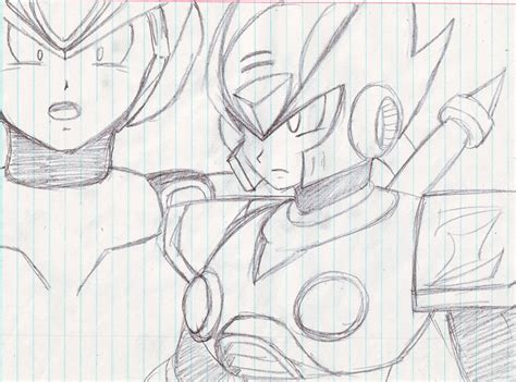 Mega X Sketches by Gallery For Gt Zero Megaman Drawings