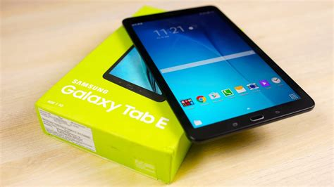 galaxy tab e unboxing on