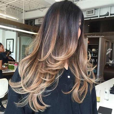 hairstyles with front highlights 31 beautiful long layered haircuts beautiful balayage