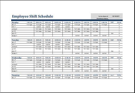simple work schedule template kays makehauk co