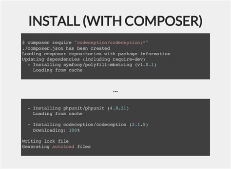 installing bootstrap via composer acceptance testing in php with codeception techmeetup