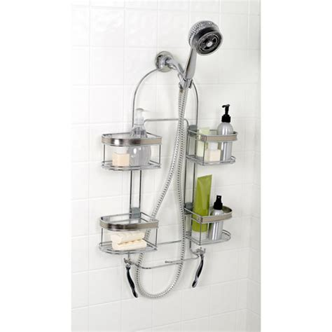 walmart bathroom organizer zenith products expanding shower caddy chrome walmart com