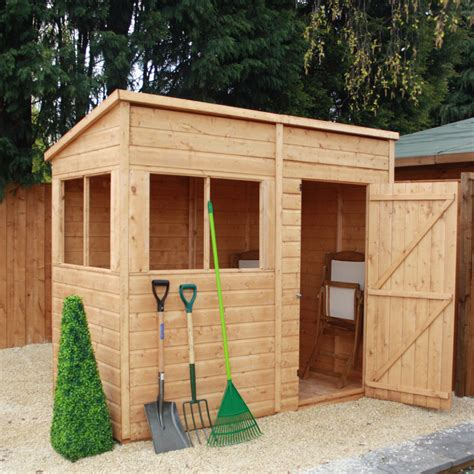 mercia 8 x 4 pent timber potting shed garden storage
