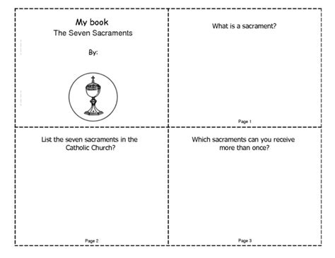7 Activities For Children by Free Seven Sacraments Coloring Pages