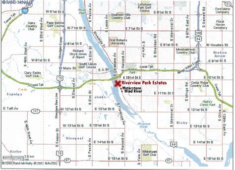 tulsa map riverview park estates best south tulsa location