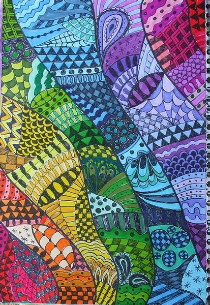colorful zentangle color wheel tinyartroom
