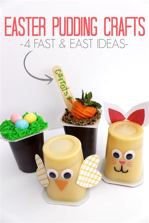 Diy Projects For Teens easter pudding cup craft ideas with snack pack child at