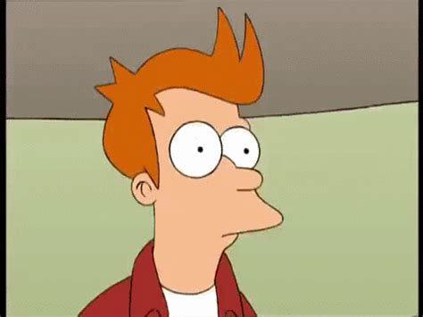 foaming at the philip j fry foaming at the with excitment find make gfycat gifs