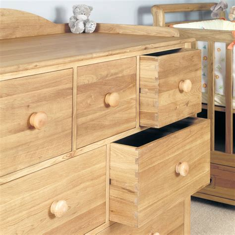 Oak Baby Changing Table Acorn Oak Baby Changing Table Chest Of Drawers By The Orchard Furniture