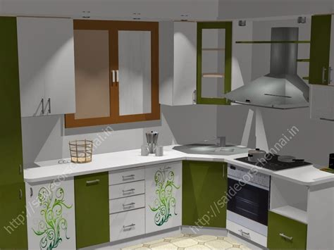 modular kitchen design flower design modular kitchen