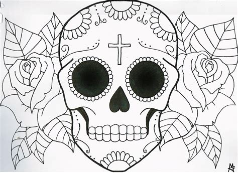 how to draw an x ray skull tattoo chibi skull step by
