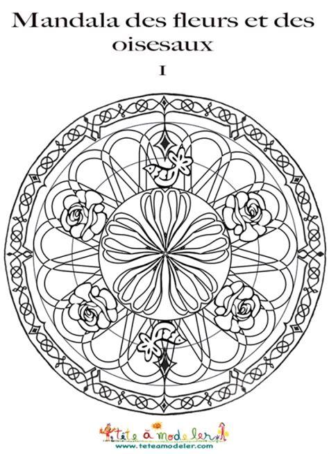 Mandala Fleurs Et Oiseaux Sur T 234 Te 224 Modeler Dessin A Imprimer Mandala L