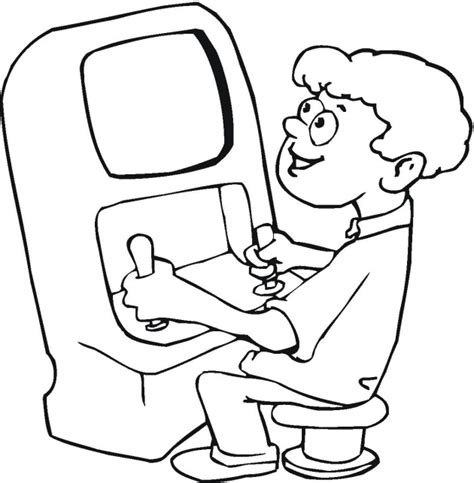 playing computer games coloring pages coloring pages