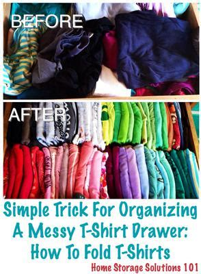 How To Fold T Shirts For Drawers how to fold t shirts simple trick for organizing your shirt drawer