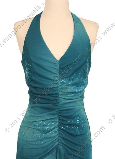 Matt Jersey turquoise matt jersey halter dress with flower print
