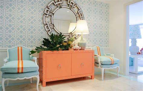 blue and orange decor color crush mint coral modshop style blog