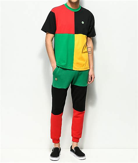 cross color cross colours green black colorblocked jogger