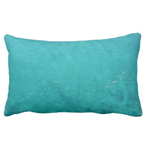 turquoise sea lumbar pillow zazzle