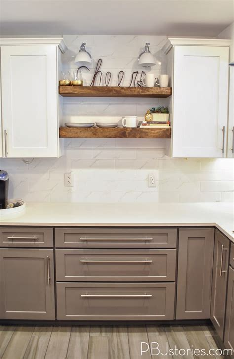 open shelf kitchen cabinets pbjstories our diy open kitchen shelves pbjreno