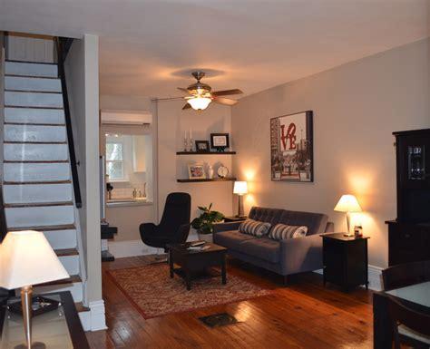 Fairmount Row Home Contemporary Living Room philadelphia by LQDesign Studio