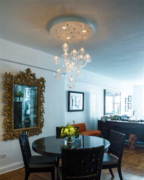 kadur chandelier over dining room table custom blown custom made blown glass cloud chandelier modern dining