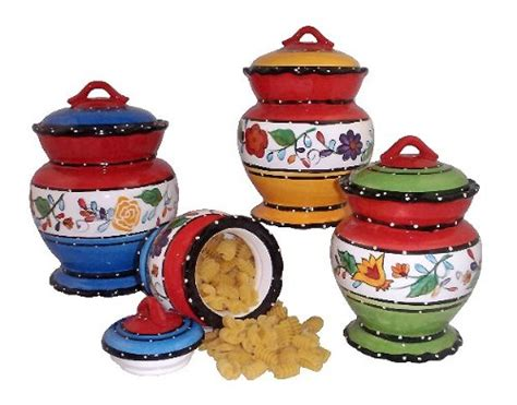 tuscan canisters kitchen tuscan kitchen canister sets 4pc canister set tuscany canisters tutti frutti dcor from ack
