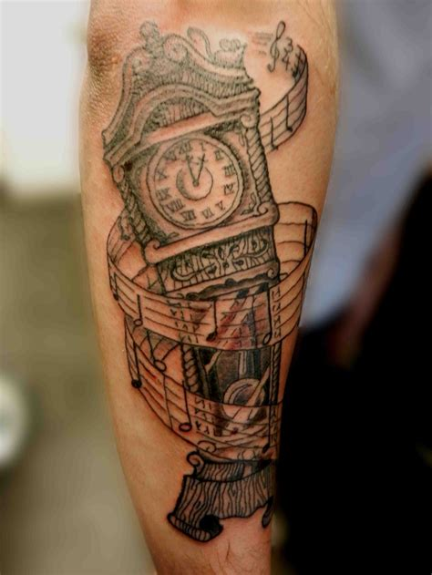 grandpa tattoos designs best 25 grandfather clock ideas on