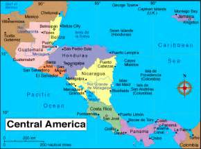 a map of central and south america central america or bust