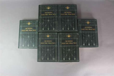 mid century modern hanging ls set of six volumes modern electric practice c1905 sold