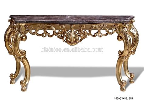 retro antique finishing console table wood carved