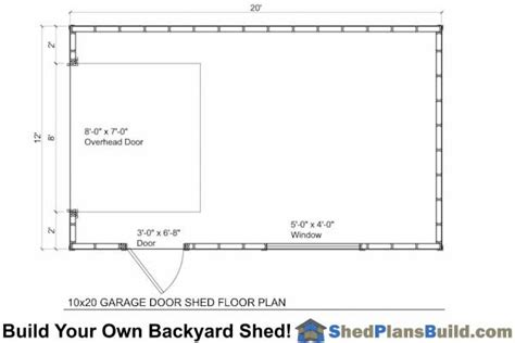 garage door floor plan 12x20 garage door storage shed plans