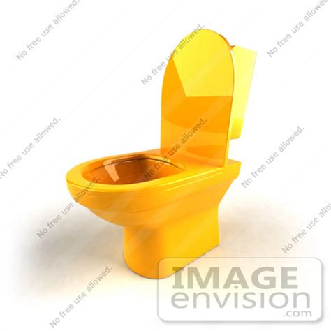 Bathrooms 2017 Royalty Free Rf Illustration Of A 3d Yellow Toilet With