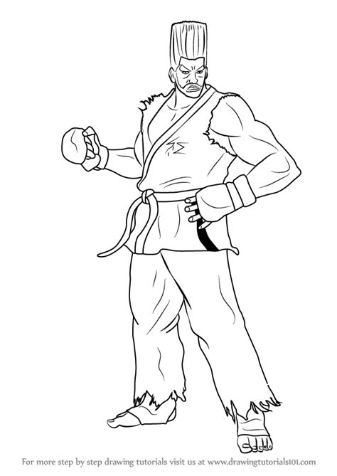 Tekken 7 Coloring Pages by Learn How To Draw Paul From Tekken Tekken Step