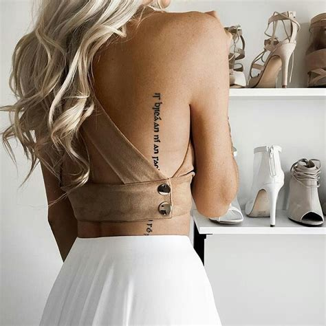 tattoo back and side girly chic sensual 30 amazing outfit ideas to try