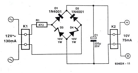 rectifier circuit zener diode zener bridge rectifier circuit diagram