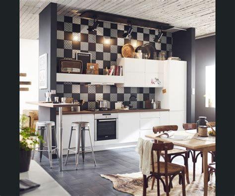 Meuble Industriel Bois Et Metal 3729 by Cuisine Bois Noir Et Blanc Cuisine
