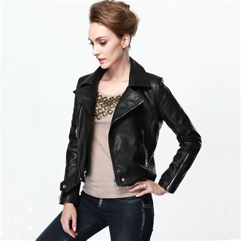 winter biker jacket cheap real leather jackets for women fit jacket