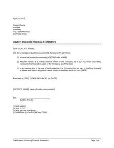 Sample Resume Format I Hereby Certify by Certification Enclosing Financial Statements Template