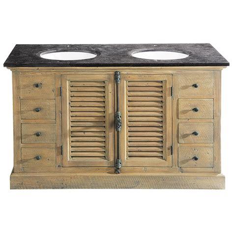 Maison Du Monde Meuble Salle De Bain meuble salle de bain vasque en bois et bleue