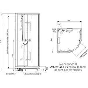 cabine de quart de rond portes coulissantes